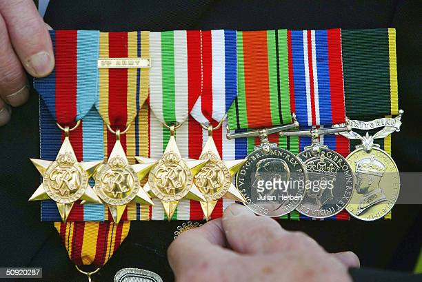 Richard Atkinson who seved in The Durham Light Infantry prepares his medals before leaving for France to ake part in the 60th Aniversary of DDay The...