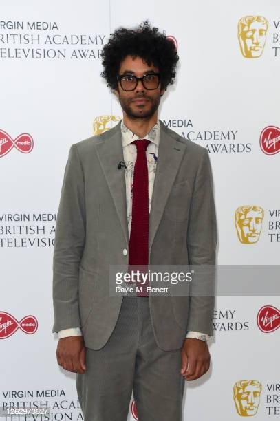 Richard Ayoade attends the Virgin Media British Academy Television Award 2020 at Television Centre on July 31 2020 in London England