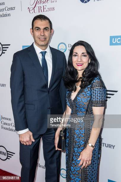 Richard Azar and Johnese Spisso attend Taste for a Cure at Regent Beverly Wilshire Hotel on April 27 2018 in Beverly Hills California