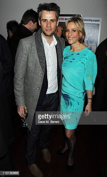Richard Bacon and Emily Maitlis attend the i newspaper 100th issue anniversary party at the Century Club on March 15 2011 in London England