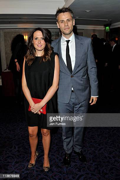 Richard Bacon and is wife Rebecca Macfarlane attend The 2011 Sony Radio Academy Awards at The Grosvenor House Hotel on May 9 2011 in London England