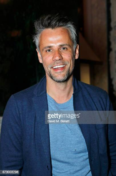 Richard Bacon attends a preopening dinner hosted by Kate Bryan at Zobler's Delicatessen at The Ned London on April 25 2017 in London England