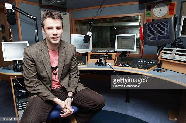 Richard Bacon poses at a photocall to announce his new role as host of Capital FM's Drive Time at Capital FM Leicester Square shot on March 2 2005 in...