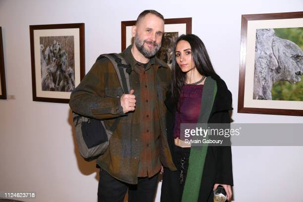 Richard Ballard and Elizabeth Shafiroff attend Global Strays Hosts Cocktails With Fine Art Photographer Ted Barkhorn at Novo Locale 263 Bowery on...