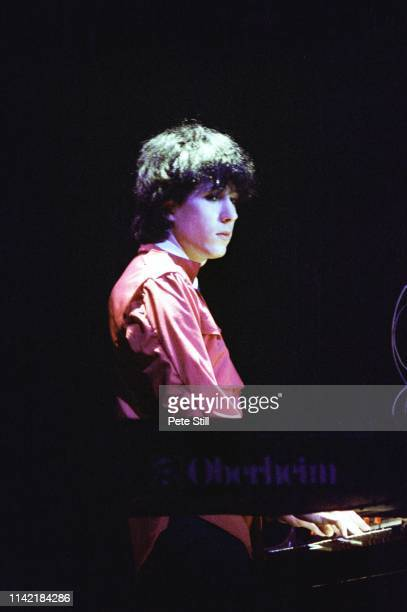 Richard Barbieri of Japan performs on stage at Hammmersmith Odeon on May 17th 1981 in London England