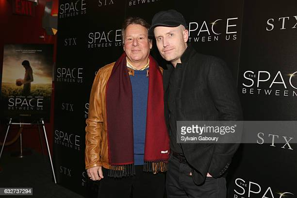 """Richard Barton Lewis and Andrew Lockington attend STX Entertainment with The Cinema Society Host a Screening of """"The Space Between Us"""" on January 25,..."""