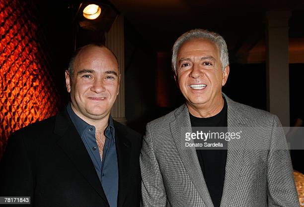 Richard Beckman Conde Nast Media Group President and Paul Marciano CEO GUESS attends the Movies Rock preparty presented by GUESS and Conde Nast at...