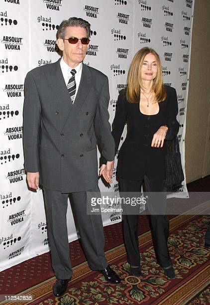 Richard Belzer and wife Harlee McBride during The 13th Annual GLAAD Media Awards - New York - Arrivals at New York Marriott Marquis in New York City,...