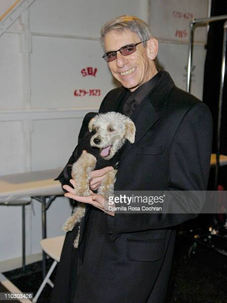 Richard Belzer during MercedesBenz Fashion Week Fall 2007 Marc Bouwer Backstage and Front Row at The Salon Bryant Park in New York City New York...