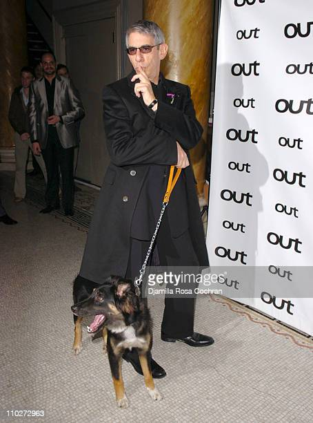 Richard Belzer with Django during Out Magazine celebrates the 11th Annual Out 100 Awards at Capitale in New York City New York