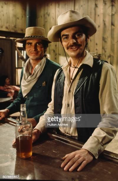 "Richard Benjamin and James Brolin pose for the MGM movie ""Westworld"" circa 1973."