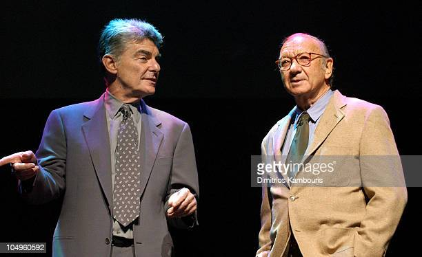 Richard Benjamin and Neil Simon during 2003/2004 TNT/TBS Superstation UPFront Event at Cipriani 42nd Street in New York City New York United States