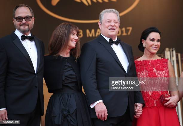 Richard Berge Diane Weyermann Al Gore and Elizabeth Keadle attend the An Inconvenient Truth premiere during the 70th annual Cannes Film Festival at...