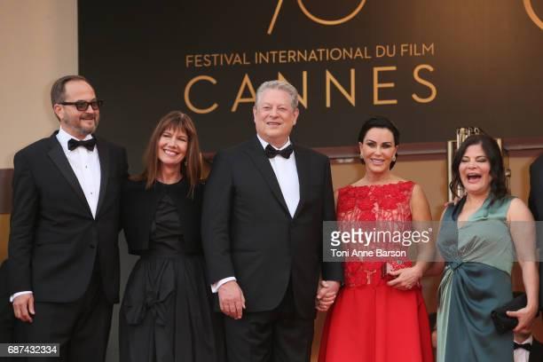 Richard Berge Diane Weyermann Al Gore Elizabeth Keadle Bonni Cohen attend the The Killing Of A Sacred Deer screening during the 70th annual Cannes...