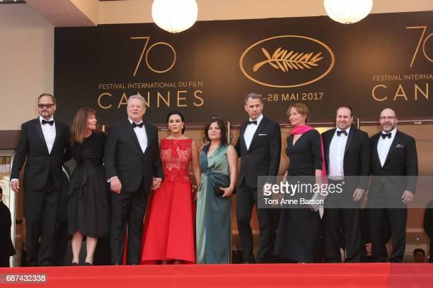 Richard Berge Diane Weyermann Al Gore Elizabeth Keadle Bonni Cohen Jon Shenk Segolene Royal Jeff Skoll and Scott Burns attend the The Killing Of A...