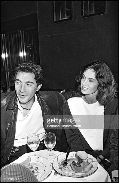 Richard Berry and Anne Parillaud at a party in L'Elysee Matignon Paris 1982