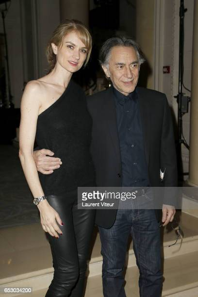 Richard Berry and his wife Pascale Louange attend La Recherche en Physiologie Charity Gala at Four Seasons Hotel George V on March 13 2017 in Paris...