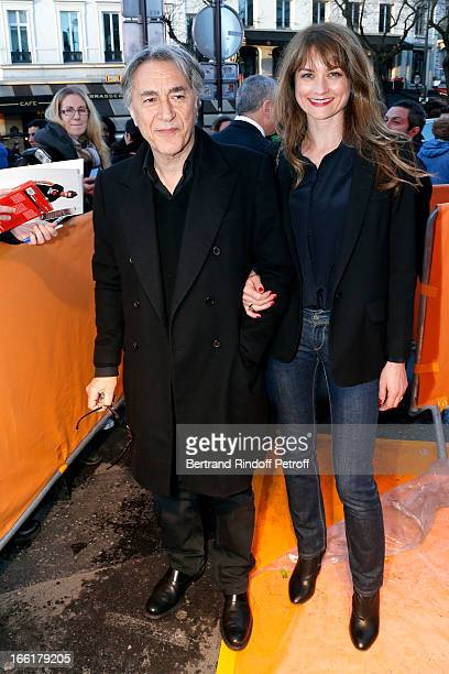 Richard Berry and his wife Pascale Louange attend 'Les Profs' Movie Premiere at Le Grand Rex on April 9 2013 in Paris France