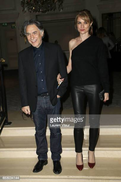 Richard Berry and Pascale Louange attend La Recherche en Physiologie Charity Gala at Four Seasons Hotel George V on March 13 2017 in Paris France