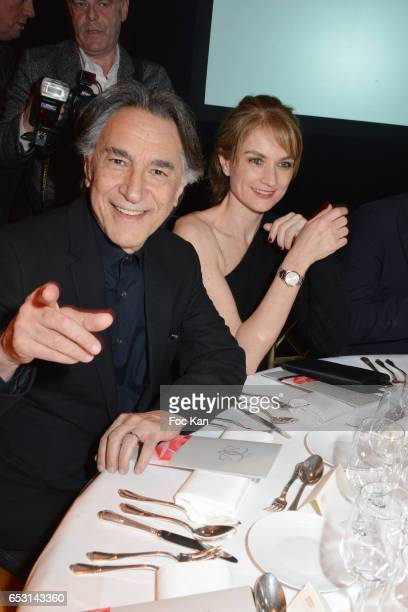 Richard Berry and Pascale Louange attend 'La Recherche en Physiologie' Charity Gala at Four Seasons Hotel George V on March 13 2017 in Paris France