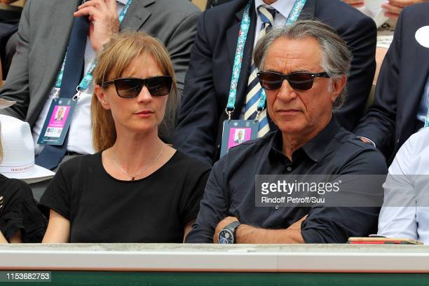 Richard Berry and Pascale Louange attend the 2019 French Tennis Open Day Ten at Roland Garros on June 04 2019 in Paris France