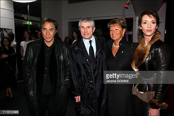 Richard Berry Claude Lelouch and Maruschka Detmers at the election of French Top Model 2007 at the Theatre Pierre Cardin in Paris France on March...