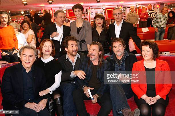 Richard Berry, Emmanuelle Devos, Edouard Baer, main guest of the show Florent Pagny, Olivier Marchal and Anne Roumanoff, Michel Drucker, Eglantine...