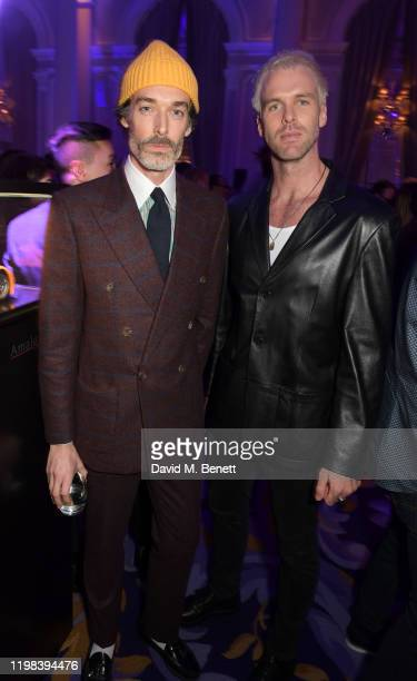 Richard Biedul and Chris BurtAllan attend the GQ Car Awards 2020 in assoociation with Michelin at the Corinthia Hotel London on February 3 2020 in...