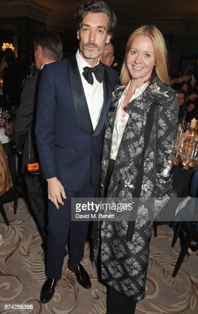 Richard Biedul and Kate Reardon attend The Cartier Racing Awards 2017 at The Dorchester on November 14 2017 in London England