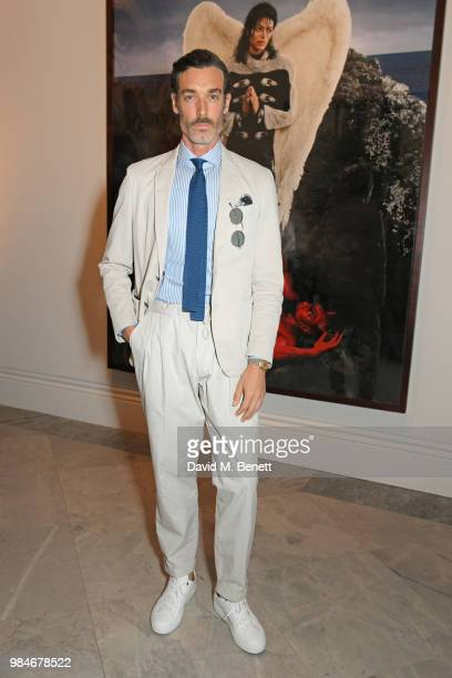 Richard Biedul attends a private view of the 'Michael Jackson On The Wall' exhibition sponsored by HUGO BOSS at the National Portrait Gallery on June...