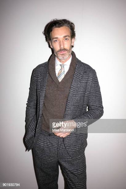 Richard Biedul attends the Ben Sherman Show during London Fashion Week Men's January 2018 at on January 6 2018 in London England