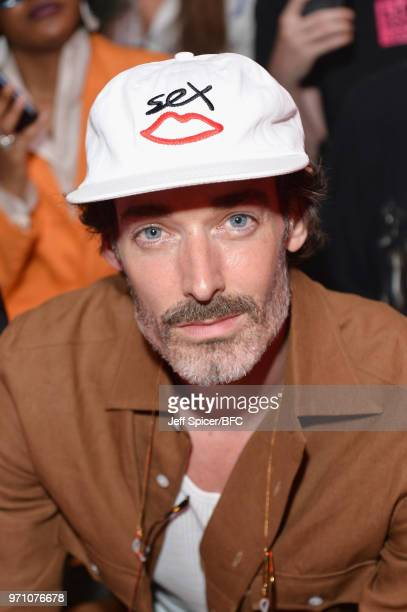 Richard Biedul attends the Berthold show during London Fashion Week Men's June 2018 at the BFC Show Space on June 10 2018 in London England