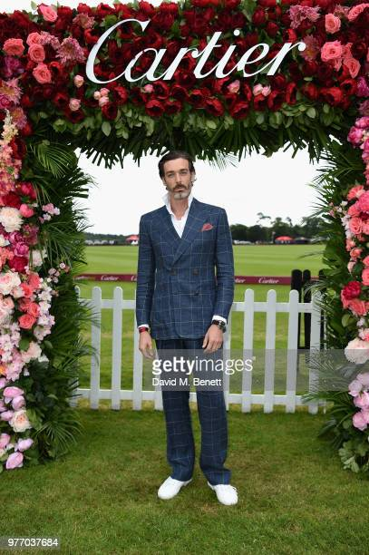 Richard Biedul attends the Cartier Queen's Cup Polo at Guards Polo Club on June 17 2018 in Egham England