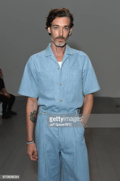 Richard Biedul attends the Christopher Raeburn show during London Fashion Week Men's June 2018 at the BFC Show Space on June 10 2018 in London England