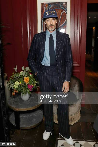 Richard Biedul attends the GQ Dinner cohosted by Loyle Carner during London Fashion Week Men's June 2018 at the The Principal London on June 11 2018...