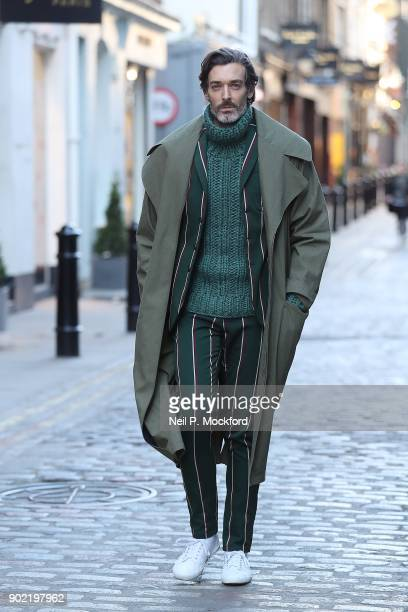 Richard Biedul attends the Kent Curwen Presentation at the Floral St Kent Curwen store during London Fashion Week Men's January 2018 on January 7...