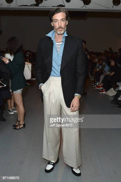 Richard Biedul attends the Private Policy and Staff Only presented by GQ China show during London Fashion Week Men's June 2018 at the BFC Show Space...