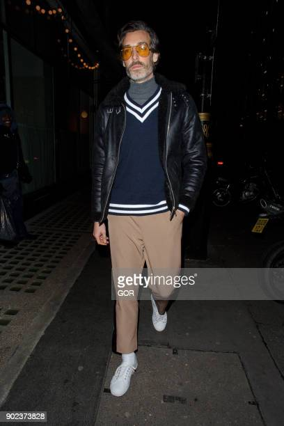 Richard Biedul attends the Topman party at Mortimer House during London Fashion Week Men's January 2018 on January 7 2018 in London England