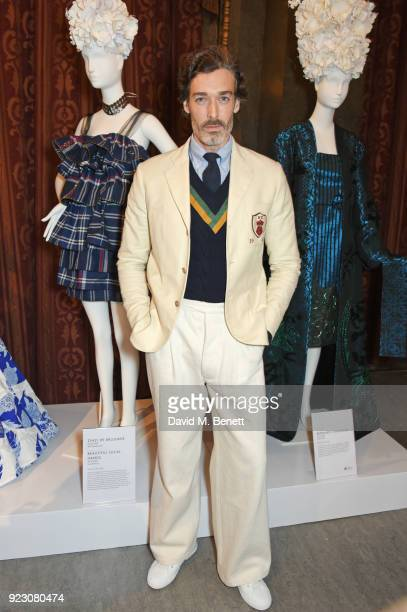 Richard Biedul attends the VIP preview of the Commonwealth Fashion Exchange exhibition at the High Commission of Australia on February 22 2018 in...