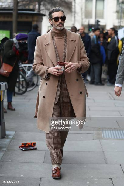 Richard Biedul attends the What We Wear Show at BFC Show Space during London Fashion Week Men's January 2018 on January 6 2018 in London England
