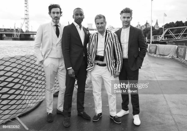 Richard Biedul Eric Underwood Jeremy Hackett and Eric Rutherford attend the Henley Royal Regatta and their official partner Hackett London launch...