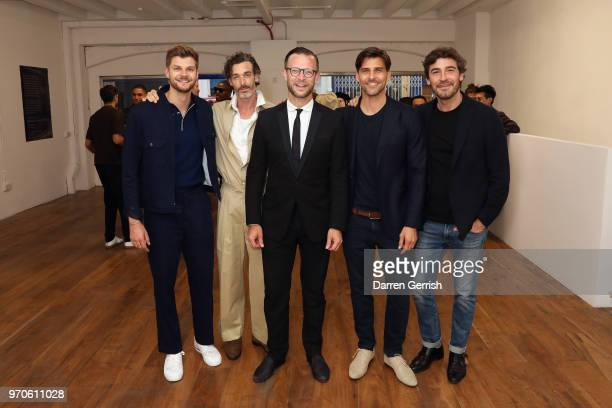 Richard Biedul Jim Chapman Nick Saunders Johannes Huebl and Robert Konjic attend as Vogue Hommes Presents GarconJon 10 Years Of Street Style at 13...