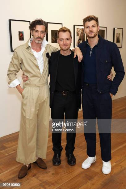 Richard Biedul Jonathan Daniel Pryce and Jim Chapman attend as Vogue Hommes Presents GarconJon 10 Years Of Street Style at 13 Floral Street on June 9...