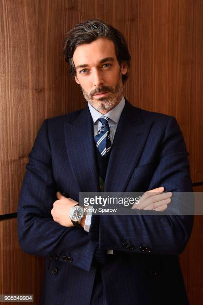 Richard Biedul poses during JaegerLeCoultre Polaris at the SIHH 2018 at Pavillon Sicli on January 15 2018 in Les Acacias Switzerland