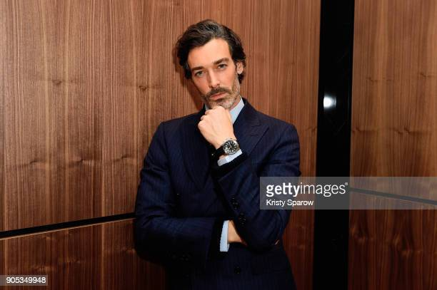Richard Biedul poses during JaegerLeCoultre Polaris at the SIHH 2018 at Pavillon Sicli on January 15 2018 in Les Acacias Switzerland