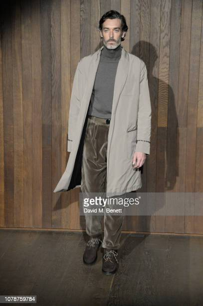 Richard Biedul walks the runway at the Oliver Spencer Autumn/Winter 2019 Catwalk Show during London Fashion Week Men's January 2019 at The Royal...