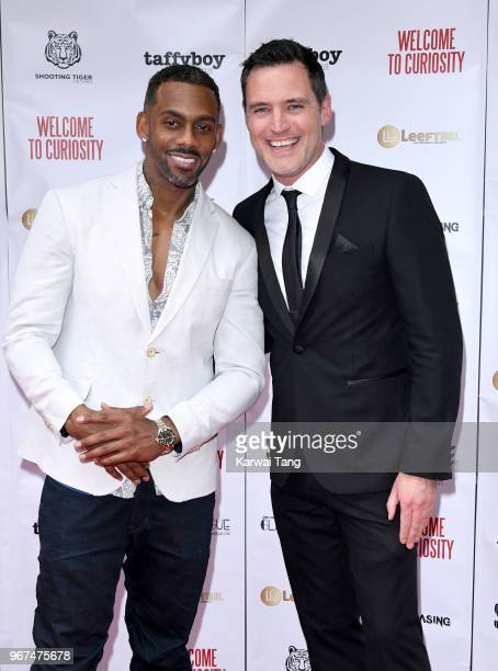 Richard Blackwood and director Ben Pickering attend the UK premiere of 'Welcome To Curiosity' at Prince Charles Cinema on June 4, 2018 in London,...