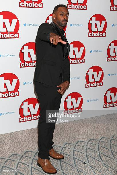 Richard Blackwood arrives for the TVChoice Awards at The Dorchester on September 5 2016 in London England