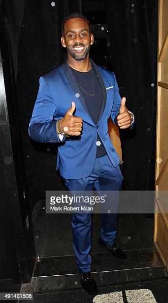 Richard Blackwood at the Inside Soap awards on October 5, 2015 in London, England.