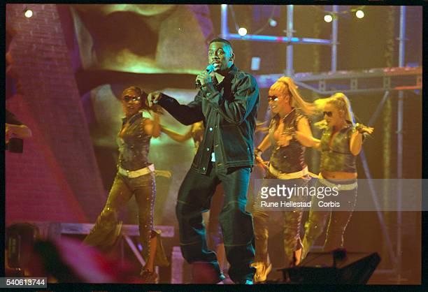 Richard Blackwood Performing at the Smash Hits Awards